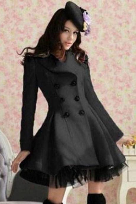 White Gray Gili Timur Outerwear gray wool trench coat tie belt lapel winter warm