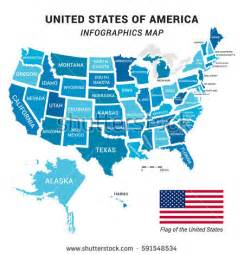 united states map including alaska and hawaii stock images royalty free images vectors