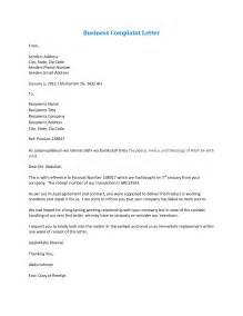 best photos of business complaint letter sle business