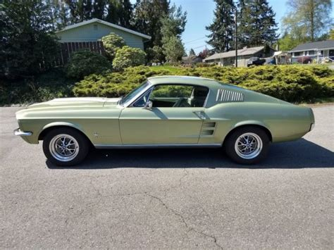 1967 mustang fastback 7f02c with lots of parts 1967 mustang fastback 2nd owner 23 yrs 5 0 aod no reserve lots parts 1968 classic ford