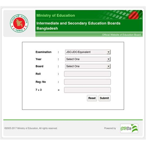Education Board ssc result 2017 bangladesh all education board result