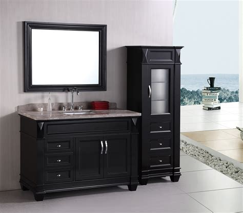 Inch Double Sink Bathroom Vanity - design element hudson single 48 inch transitional bathroom vanity set espresso