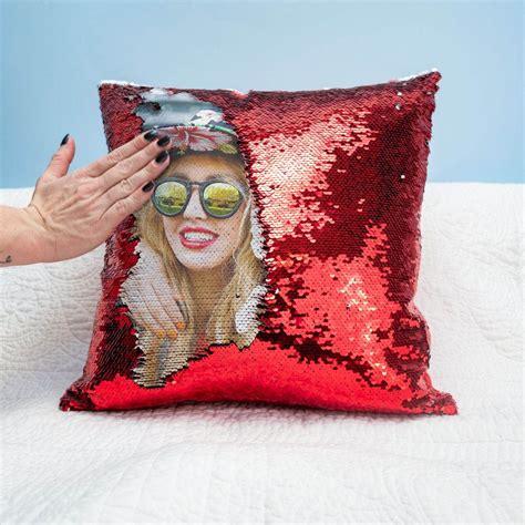 federa cuscino con foto federa cuscino personalizzato con paillettes click dreen