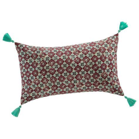 cuscino rosso cuscino rosso in cotone 30 x 50 cm velleron maisons du monde