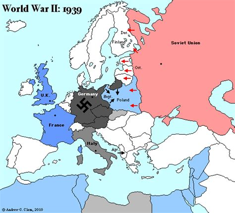 Europe Map 1939 by 302 Found