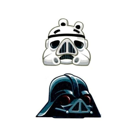 star wars temporary tattoos angry birds wars temporary pack