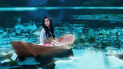 model boats on the water asian hd wallpaper background image 1920x1080 id