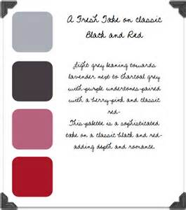 what colors compliment grey grey charcoal berry red color palette
