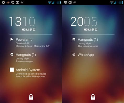how to lock screen on android better android lock screen notifications with dashclock and dashnotifier hongkiat