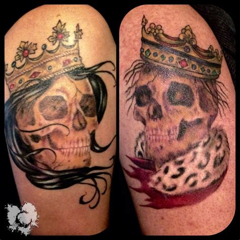 ceejay king and queen color skulls crowns neotat machines