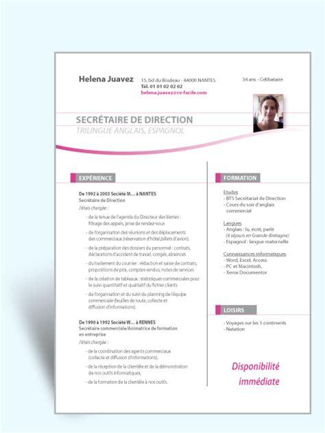 Modele Cv Assistante De Direction