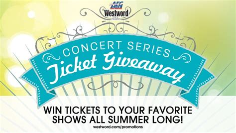 Concert Ticket Giveaways - aeg westword present the concert series ticket giveaway denver free stuff westword