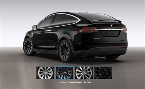 Wheels Tesla Model X tesla model x gets a 20 quot sonic carbon wheel and center