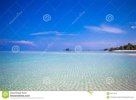 ideal image island idyllic tropical with white sand and stock