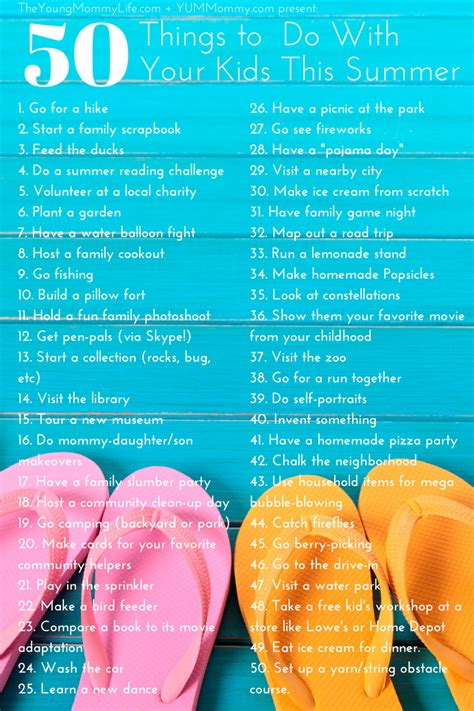 7 Things To Do With Your Toddlers 50 things to do with your this summer a yml live