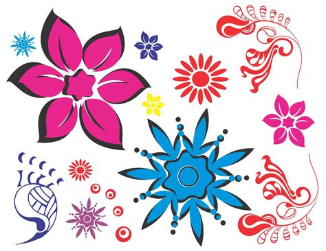 floral pattern cdr floral pattern vector flowers cdr file for coreldraw x5