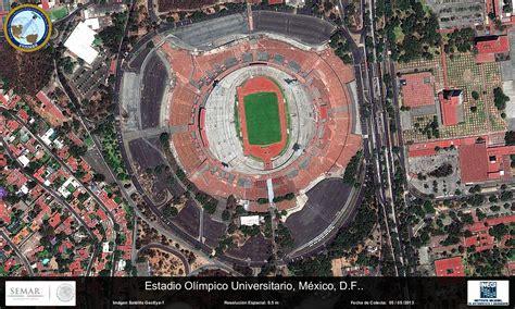 imagenes satelitales ciudad de mexico imagen satelital del estadio ol 237 mpico universitario