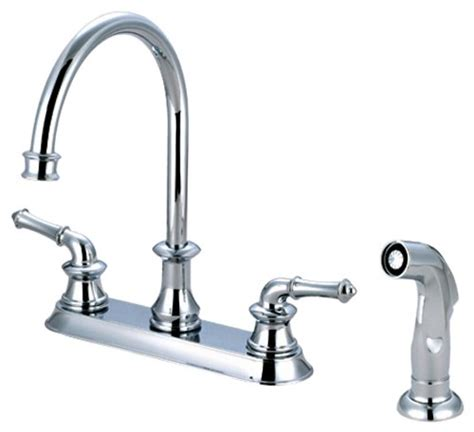 pioneer 2dm301 orb two handle kitchen faucet rubbed