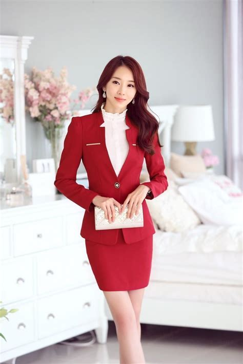 Blazer Set Skirt formal gray blazer business suits with skirt and and