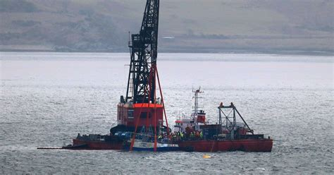 scottish fishing boat codes sunken nancy glen recovered in loch fyne as search for