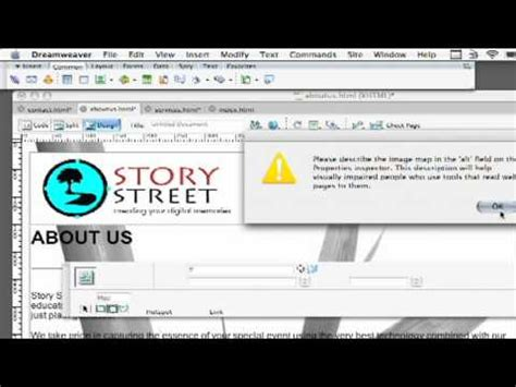 dreamweaver tutorial image map dreamweaver tutorial how to create a clickable image map