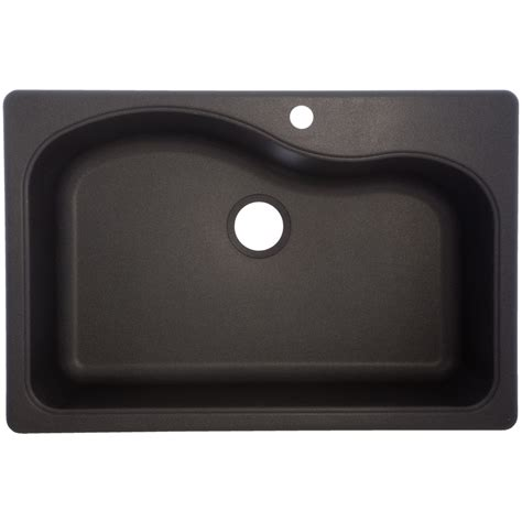 Graphite Kitchen Sinks Shop Franke Gravity 33 In X 22 In Graphite Single Basin Granite Drop In Or Undermount 4