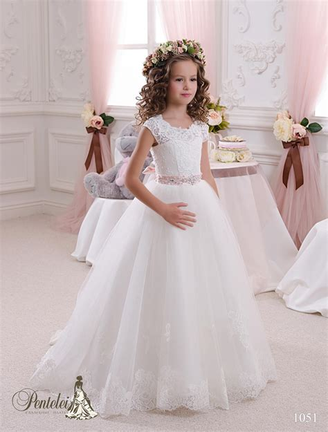 Gaun Tutu Flower Lace Princess Anak Dress Pesta Wedding Bayi Balita 2016 wedding dresses with cap sleeves neck