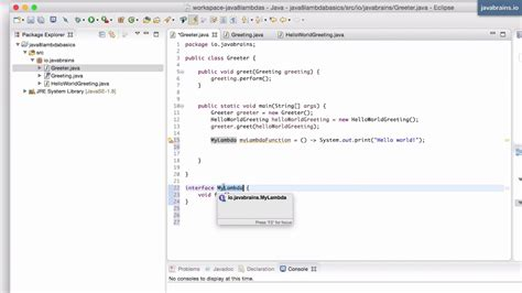 java 8 lambda basics 8 lambda as interface type youtube