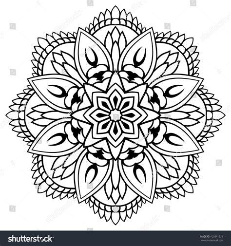 tattoo mandala oriental vector floral mandala oriental stylized design stock