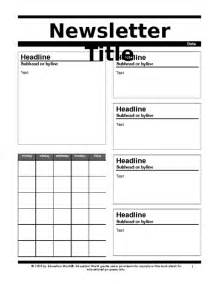education world newsletter 2 template