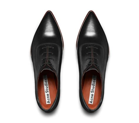 pointed oxford shoes acne studios martha black pointed oxfords s t y l e
