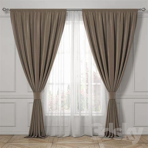 drapes login 3d models curtain curtains classic style