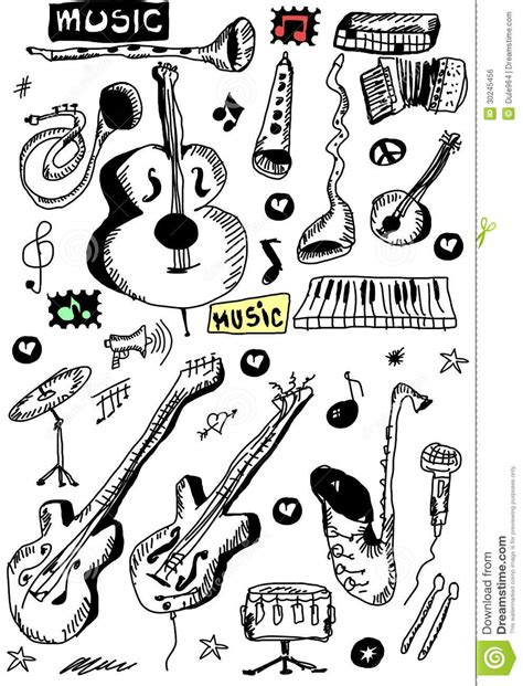 the sonars musical doodle free doodle musical instruments royalty free stock image