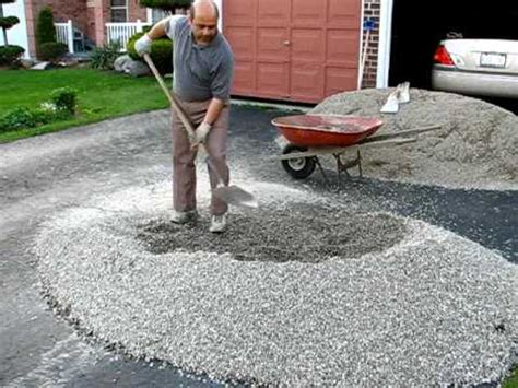 phase 1 of patio make the gravel base