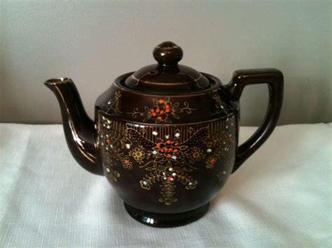 See Tea Pot Light Brown vintage brown lusterware teapot teapots