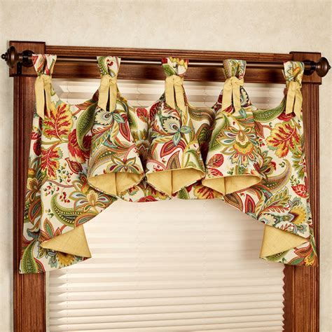 Floral Valance valbella jacobean floral indoor outdoor austrian valance