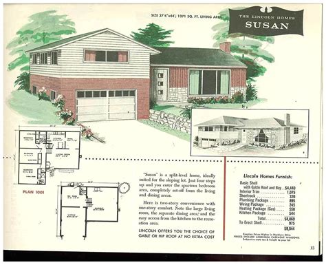 Split Level Floor Plans 1960s | house plans 1960 split level house floor plans garages