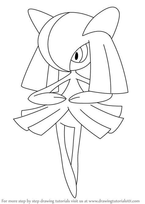 pokemon coloring pages gallade learn how to draw kirlia from pokemon pokemon step by