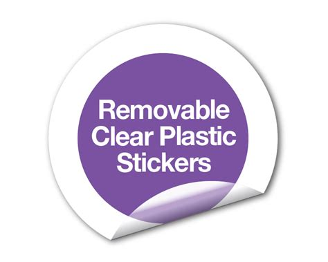 printable removable stickers removable clear plastic stickers get quote special