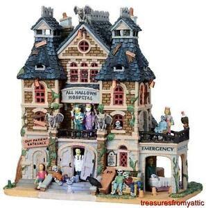 lemax christmas village hospital lemax spooky town all hallows hospital 05009 nib lighted w sound ebay