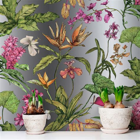 hothouse tropical floral wallpaper