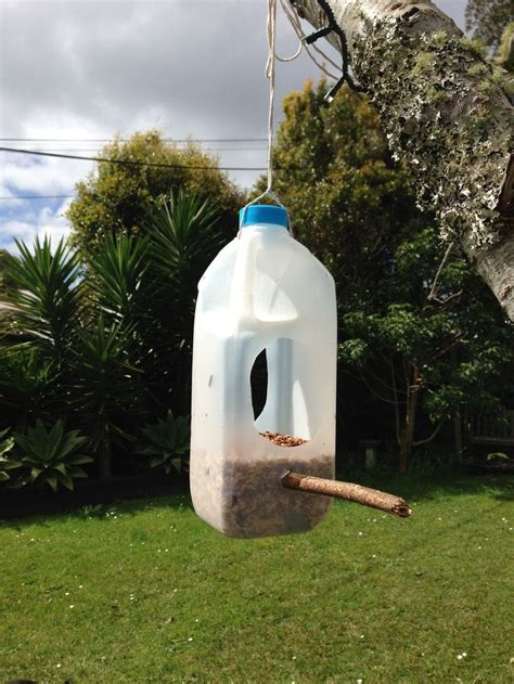 milk bottle bird feeder diy bird feeder homemade bird