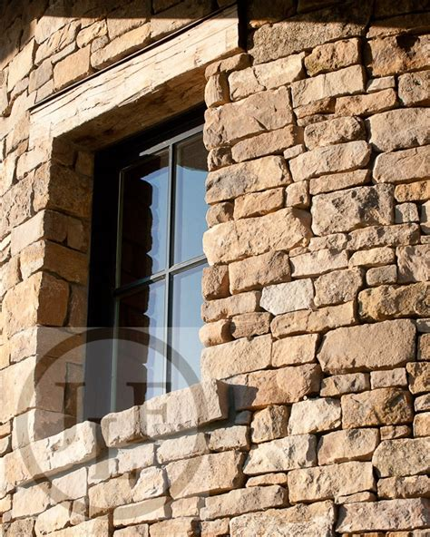 wood header design exle clad window in curved stone wall with old wood header