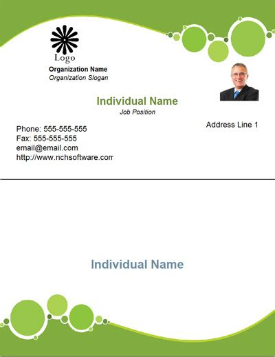 business card template word free designs 1