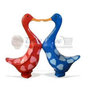 Handicraf Tas Akar Ready Stock patung bebek warna warni set of 2 toko gabe handicraft