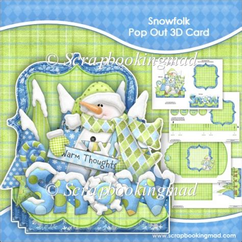 how to make a pop out card snowfolk pop out 3d card envelope 163 1 00 instant card