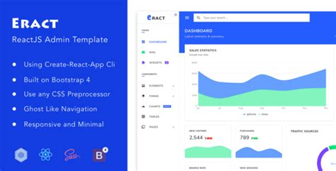 Eract Reactjs Bootstrap 4 Admin Template Theme For U Reactjs Bootstrap Template