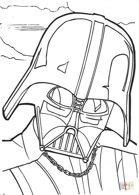 sw monster coloring page coloriage le visage de dark vador coloriages 224