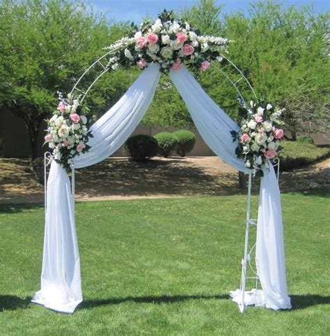 Wedding Arch Already Decorated by Arch Wedding White Metal A H Rents Inc