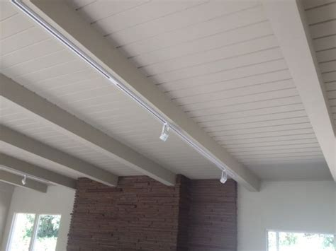 Lighting For Beamed Ceilings White Beams Track Lighting West Point Drive Beams Lights And Living Rooms
